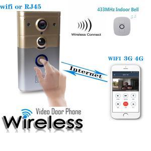 Buy cheap Intelligent WiFi Video Doorbell With PIR Alarm , Full Duplex Voice Intercom product