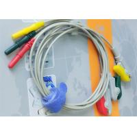 Buy cheap Din Style IEC Safety 3 Leads ECG Monitor Cable And Leadwires Compatible All Brand product