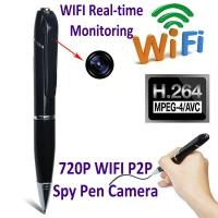 Buy cheap 720P HD WIFI P2P Pen Spy Hidden Camera Covert Video Streaming Recorder Home from wholesalers