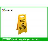 Buy cheap Yellow Plastic Caution Sign Board / Portable Sign Stands Eco Friendly 62x30cm product