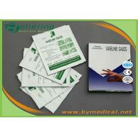 Buy cheap Sterile Paraffin Gauze Dressing Swabs , Wound Care Vaseline Gauze Dressing product