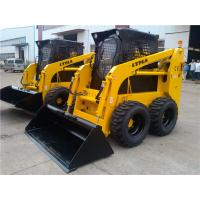 China 850kg Wheeled Skid Steer Loader With 61hp Engine Power And 4 In 1 Bucket on sale