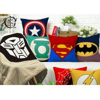 Buy cheap Marvel Heros Canvas Silk Cotton Decorative Cushions Pillows Zipper Hulk Captain America For Home product