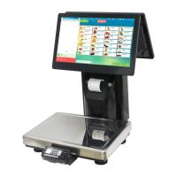 Buy cheap Black Barcode Printing Scale , Dual Touch Screen Label Printing Weighing Scale product