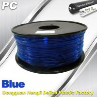 Buy cheap Blue 3mm Polycarbonate Filament Strength With Toughness1kg / roll PC Flament product