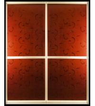 Buy cheap CY-ZG2306B Red Aluminum Sliding Wardrobe Doors, Durable Glass Sliding Closet Factory Door For Kitchen, Office product