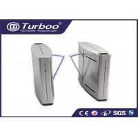Buy cheap Double Anti - Clipping Access Control Turnstile Gate Retractable Flap Barrier product