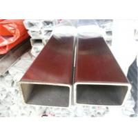 Buy cheap Semi Smooth Square Section Steel Tube , ASTM T304 Stainless Steel Tube Dull Grey Finish product