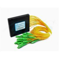 Buy cheap Custom SC / APC 1*32 Fiber Optic Plc Splitter 0.5dB Insertion Loss With 3.0mm Cable product