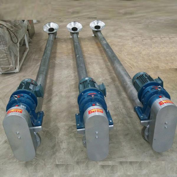 Quality 304  Stainless steel Horizontal screw feeder stainless steel screw conveyor hopper auger conveyor for sale
