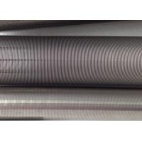 Buy cheap Filtration Cylinder Stainless Steel Tube / 40 Micron Johnson Screen Inside Rods Lengthways product