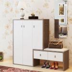 Buy cheap Waterproof Wear Resisting Wooden Shoe Cupboard White Shoe Storage Cabinet product