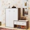 Buy cheap Waterproof Wear Resisting Wooden Shoe Cupboard White Shoe Storage Cabinet from wholesalers