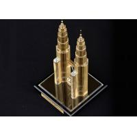 Quality Famous Building Home Decorations Crafts , Malaysia Twin Tower Tourism Souvenirs for sale
