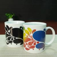China Custom ceramic heat activated coffee mug personalised heat change mug wholesale
