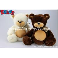 Quality Brown Big Belly Stuffed Bears with Ribbon for sale