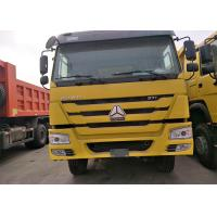 Buy cheap 40 Ton Sinotruk Howo 6x4 Dump Truck , Yellow Color Heavy Duty Tipper Trucks product