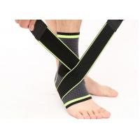 Buy cheap Football Foot Ankle Compression Ankle Brace , 3D Weaving Elastic Foot Bandage Sock product