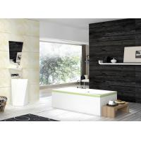 China Stone Resin Free Standing Deep Soaker Tub Anti Yellowing Easy To Maintain on sale