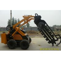 Buy cheap Railway / Ports Mini Skid Steer Front End Loader With Trencher CE ISO product