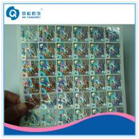 Buy cheap Die Cut Self Adhesive Rainbow Custom Hologram Stickers For Packaging product