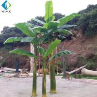 Buy cheap 4.5m Height Artificial Tropical Plants , Decorative Faux Banana Leaf Tree product