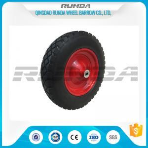 Buy cheap Anti Slip Foam Filled Wheelbarrow Tires20mm Inner Hole Steel Rim Smooth Bearing product