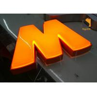 Buy cheap Custom Formed Illuminated LED Plastic Sign Letters Outdoor Signage With Metal Returns from wholesalers