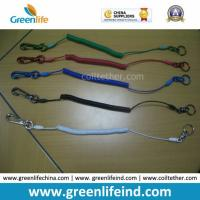 China Custom Different Colors Sainless Steel Wire Coil Tool Lanyard Holders on sale