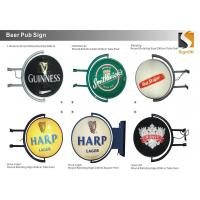"""Buy cheap Round 20"""" Globe Rotating Pub Lighted Sign Beer Distributor  Beer Wholesalers Sign product"""