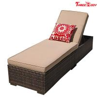 Buy cheap Patio Chaise Outdoor Lounge Sofa Adjustable Hight With Cushion Espresso Brown product
