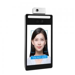 Buy cheap 8 Inch ROHS Face Recognition Temperature Measurement Door Access Control product