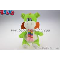 Buy cheap 100% Polyester Green Cuddly Plush Dinosaur Toy With Scarf For Kids product