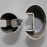 Buy cheap Oval Single Slot Stainless Steel Tube ASTM A554  Welded Decorative product