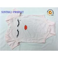 Buy cheap Envelope Neck Graphic Print Baby Girl Short Sleeve Onesies 100% Combed Cotton Knitted Jersey product