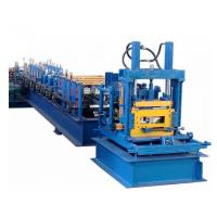 Buy cheap Galvanized Steel CZ Purlin Roll Forming Machine 400H Beam Frame With Post Cutting product
