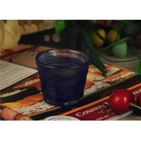 Buy cheap Birthday handmade blue glass candle holder , 70ml glass candle jars product