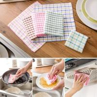 Buy cheap Pink / Blue British Grid Kitchen Tea Towels , 27 × 27cm Hand Towels For Kitchen  product