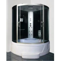 Buy cheap White Painted Aluminum Frame Bathtub Shower Room For Single Person product