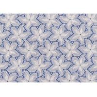 Buy cheap Blue / White Floral French Lace Fabric By The Yard For Swimwear / Toy product