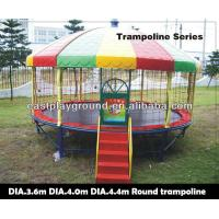 Buy cheap Amusement Mobile Bungee Trampoline Galvenized Steel Pipes PP Material product