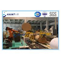 Buy cheap Automatic Paper Roll Kraft / Stretch Wrap Machine , Intelligent Paper Wrapping Machine product