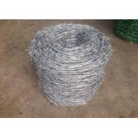 Buy cheap Single Twisted Galvanized High Tensile Barbed Wire Security For Industry product