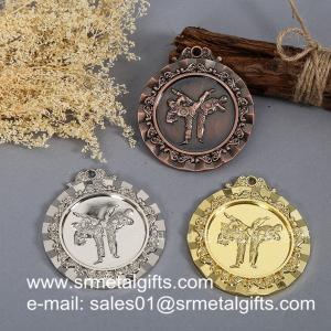 China Taekwondo metal medals, custom made metal engraved Taekwon-do medals factory wholesale