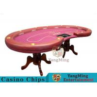 Buy cheap High Density Texas Holdem Poker Table , Casino Style Poker Table With Soft Touch product