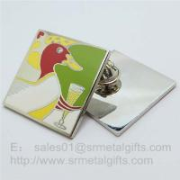 Buy cheap Cloisonne soft enamel Collar Lapel Pins, custom Cloisonne Enameled Pin butterfly clutch product
