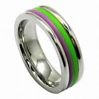 China Fashionable Ring, Made of Stainless Steel and Titanium, OEM/ODM Orders are Welcome on sale
