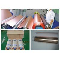Buy cheap ISO Approval Battery Copper Foil Sheet , LB Single Shiny Copper Sheet Roll product