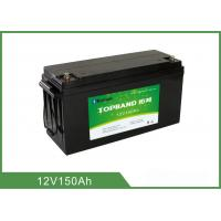 Quality High Capacity 12 V 150Ah Rechargeable Lithium Batteries With Bluetooth Connection for sale