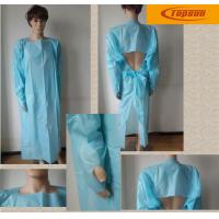 Buy cheap CPE Material Long Sleeve Disposable Gowns For Hospitals , Disposable Protective Gowns product
